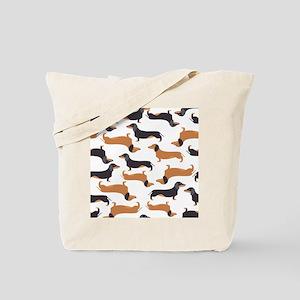 Cute Dachshunds Tote Bag
