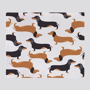 Cute Dachshunds Throw Blanket