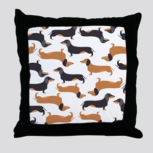 Cute Dachshunds Throw Pillow