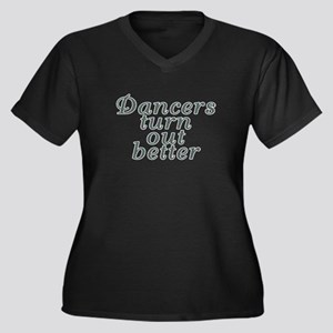 Dancers turn Women's Plus Size V-Neck Dark T-Shirt