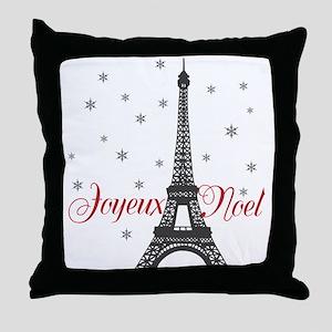 Paris Christmas Throw Pillow