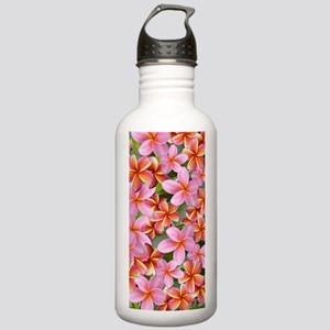 Pink Plumeria Flowers Water Bottle