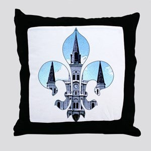 Fleur St. Louis Cathedral Throw Pillow
