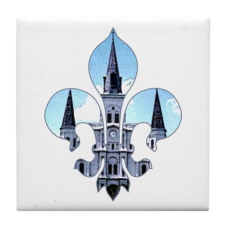 Fleur St. Louis Cathedral Tile Coaster