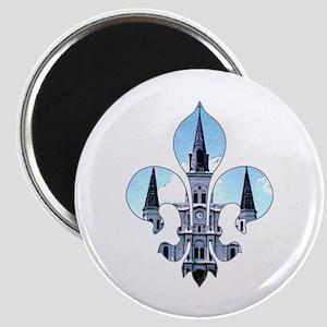 Fleur St. Louis Cathedral Magnet