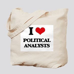 I love Political Analysts Tote Bag
