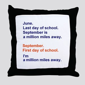 Miles of Summer Throw Pillow