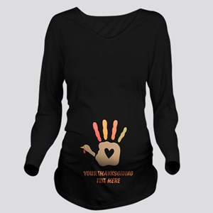 Personalized Turkey Hand Print Long Sleeve Materni