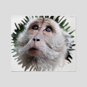 Adorable Monkey, Mask Throw Blanket