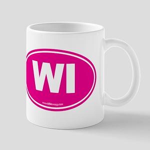 Wisconsin WI Euro Oval Mug