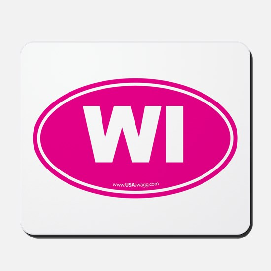Wisconsin WI Euro Oval Mousepad