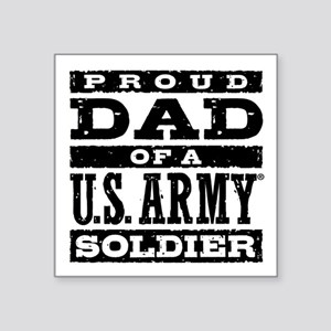 """Proud Army Dad Square Sticker 3"""" x 3"""""""