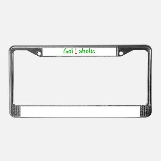 Golfaholic License Plate Frame