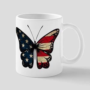 Puerto Rican Flag Butterfly Mug