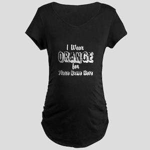 I Wear Orange Maternity T-Shirt