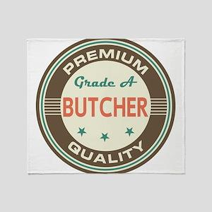 Butcher Vintage Throw Blanket