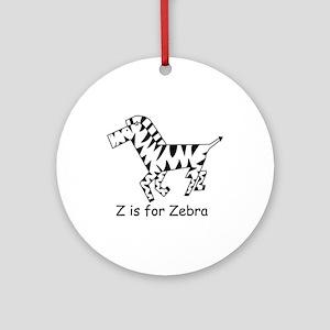 Z is for Zebra Ornament (Round)