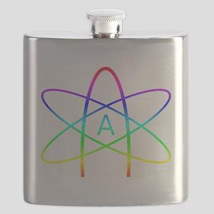 Rainbow Atheist Symbol Flask