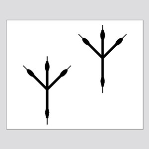 Bird Footprints Silhouette Posters