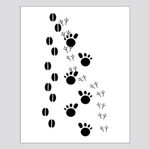 Animal Tracks Silhouette Posters