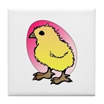 Easter Art Chick Tile Coaster