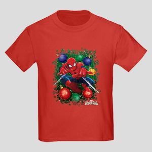 holiday spider-man Kids Dark T-Shirt