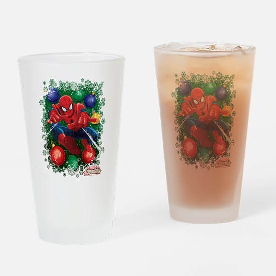 holiday spider-man Drinking Glass