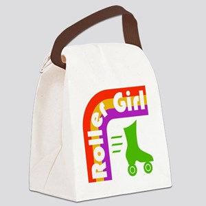 Roller Girl Canvas Lunch Bag