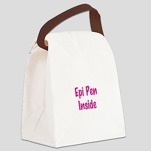 Epi Pen Inside Canvas Lunch Bag