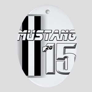 New Mustang Ornament (Oval)