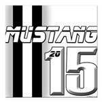 New Mustang Square Car Magnet 3