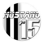 New Mustang Round Car Magnet