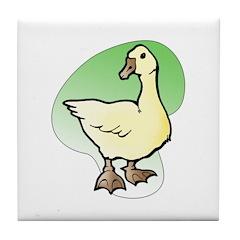 Easter Art Duck Tile Coaster