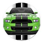 2013stanggreen Round Car Magnet