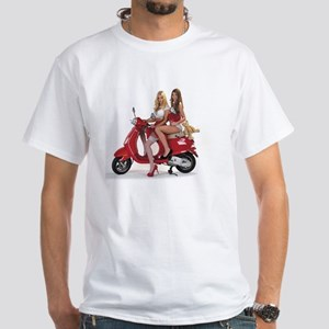 FastDates.com Scooter Kittens Jessic White T-Shirt