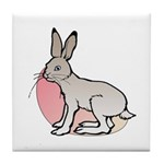 Easter Art Rabbit Tile Coaster