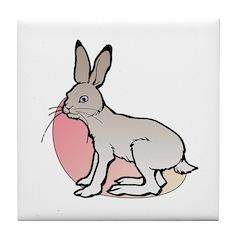 Easter Art Rabbit Tile Coaster