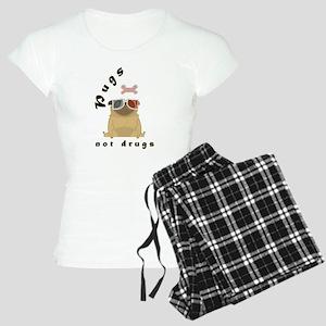 Pugs not Drugs T-Shirts Women's Light Pajamas