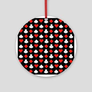 Poker Symbols Ornament (Round)