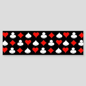 Poker Symbols Bumper Sticker