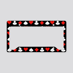 Poker Symbols License Plate Holder