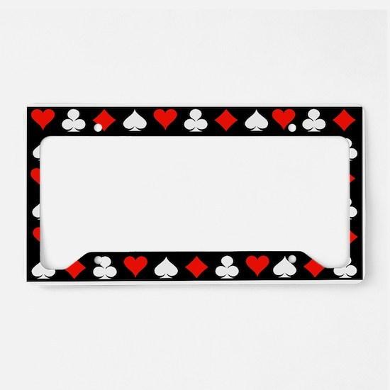 Poker Symbols License Plate Holder