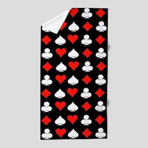 Poker Symbols Beach Towel