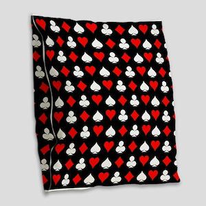 Poker Symbols Burlap Throw Pillow