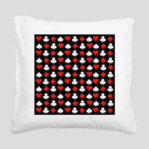 Poker Symbols Square Canvas Pillow