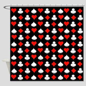 Poker Symbols Shower Curtain