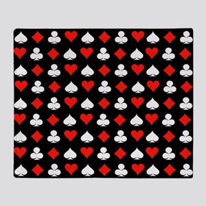 Poker Symbols Throw Blanket
