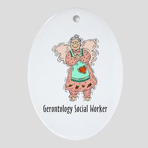 Gerontology SWF Angel Oval Ornament