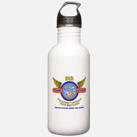 5TH ARMY AIR FORCE WOR Water Bottle