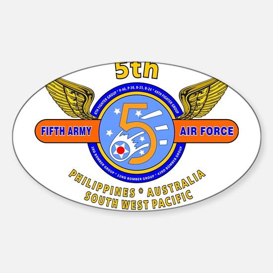 5TH ARMY AIR FORCE WORLD WAR II Decal